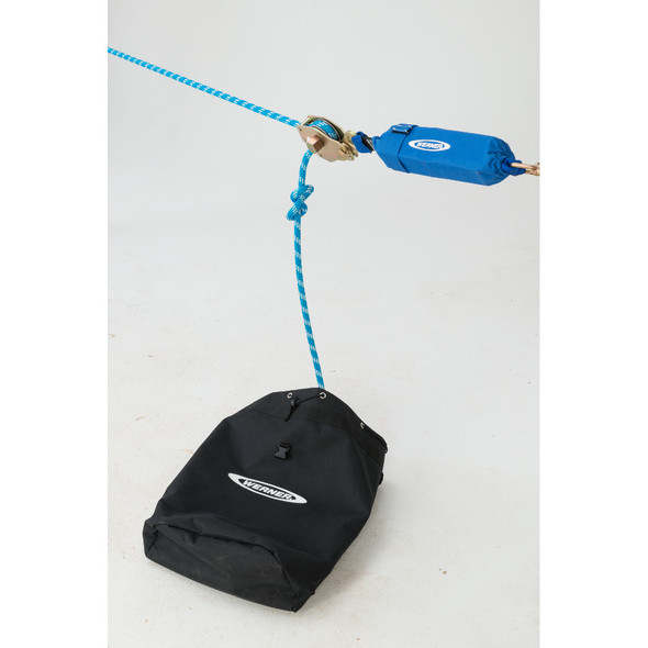 Werner L100XXX 2-Man Rope Horizontal Lifeline System, Cross-Arm Strap, Rope Tensioner