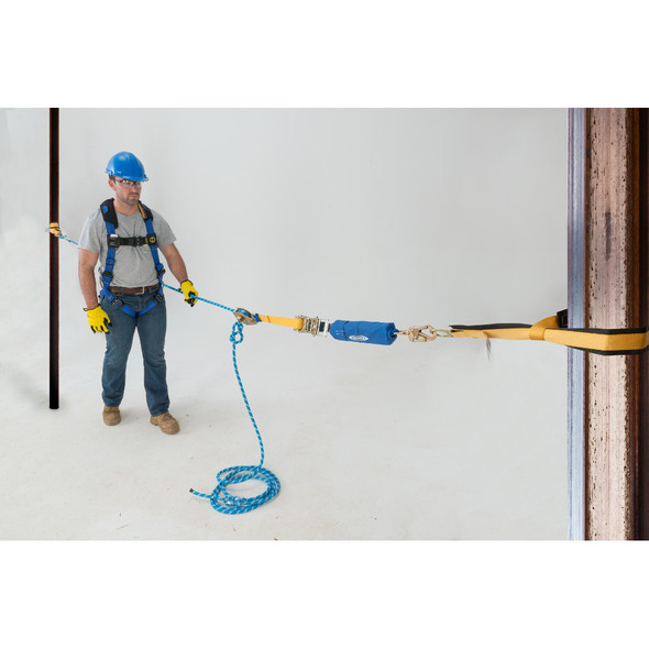 Werner L120XXX 2-Man Rope Horizontal Lifeline System, D-Bolt Anchor, Rope Tensioner
