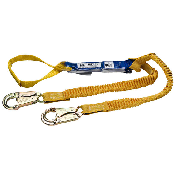 "Werner Fall Protection ""DeCoil Stretch"" Lanyard"