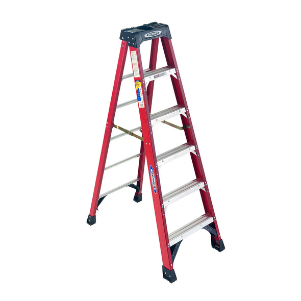Werner 6300 Series Fiberglass Stepladder | 375 lb Rated
