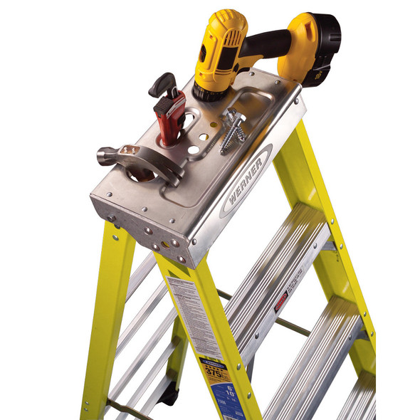 Werner 7300 Series Fiberglass Stepladder | 375 lb Rating