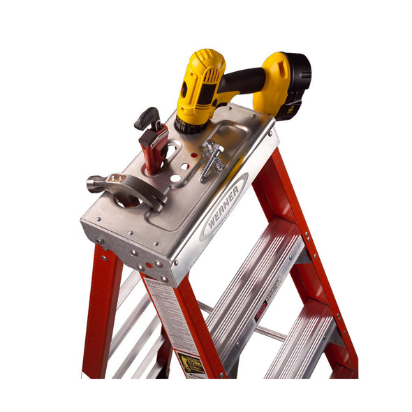 Werner 7400 Series Fiberglass Stepladder | 375 lb Rated