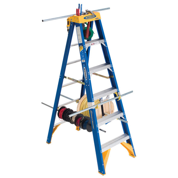 "Werner OBEL Series ""Electrician's"" Fiberglass Stepladder 