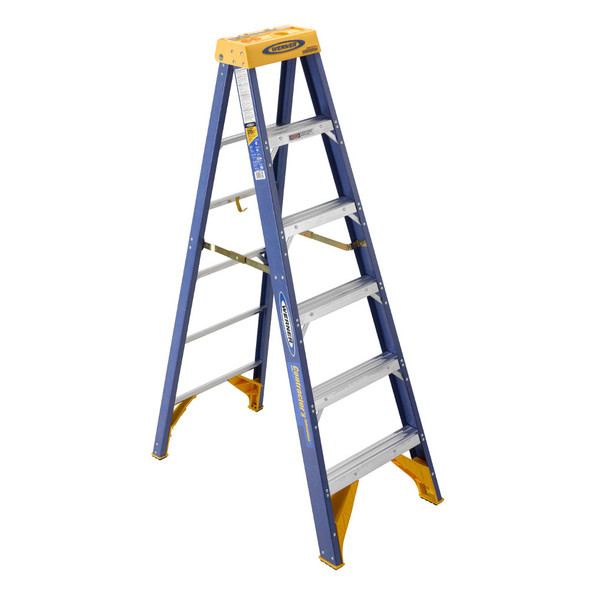 "Werner OBCN Series ""Contractor's"" Fiberglass Stepladder 
