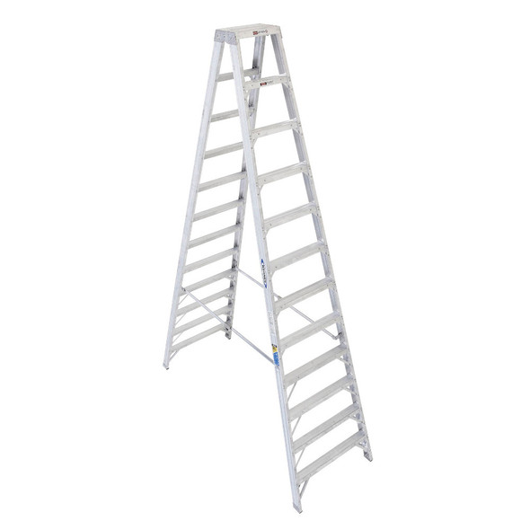 Werner T400 Series Twin Sided Stepladder 375 lb Rated