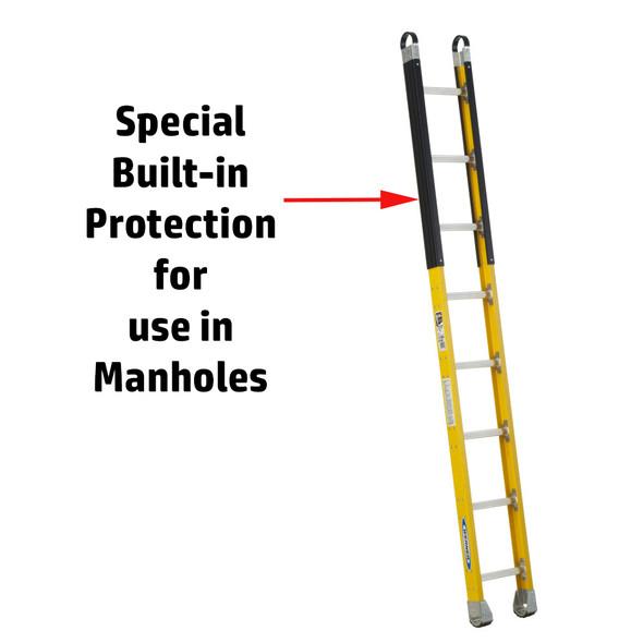Werner M7100-1 Series | Fiberglass Manhole Ladder / 375 lb Rated
