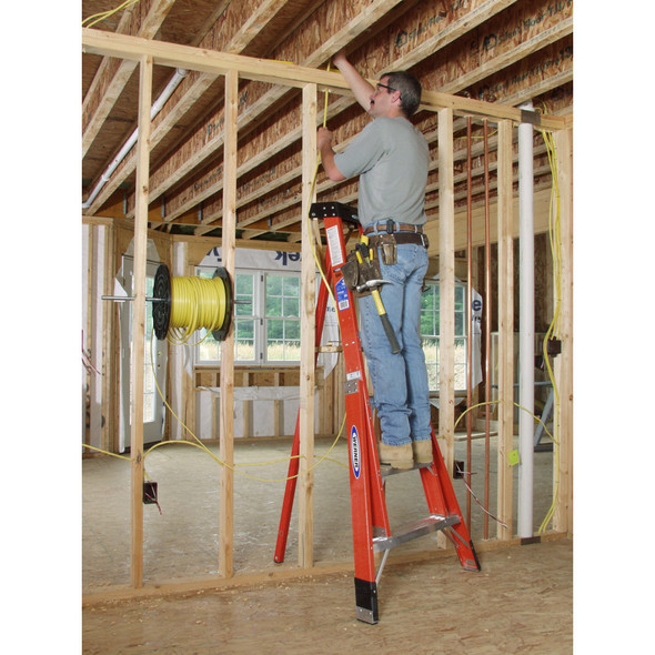 Werner FTP Series Fiberglass Tripod Stepladder | 300 lb Rated