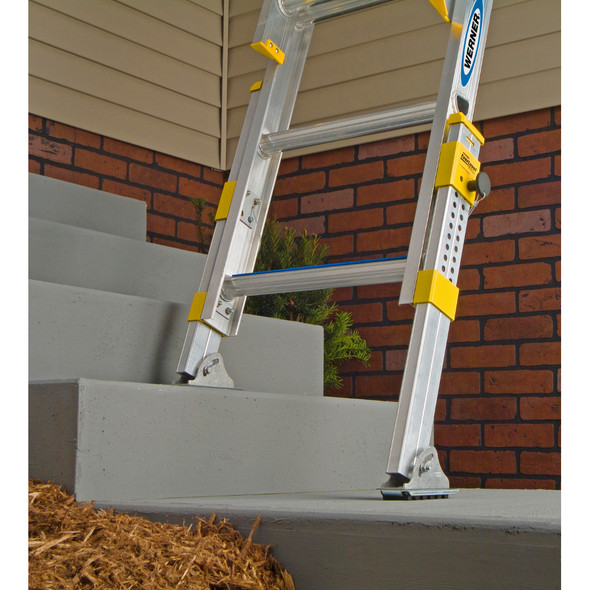 Werner D1700-2EQ Equalizer Series Extension Ladder 225 lb Rated