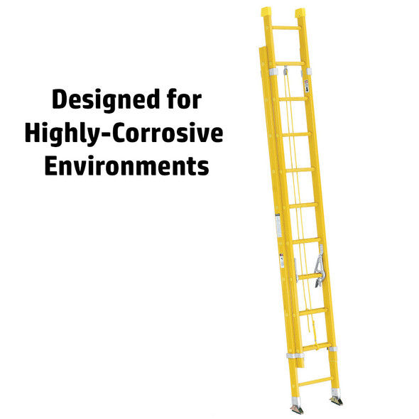 Werner 9500 Series Fiberglass Round Rung Extension Ladder 300 lb Rating