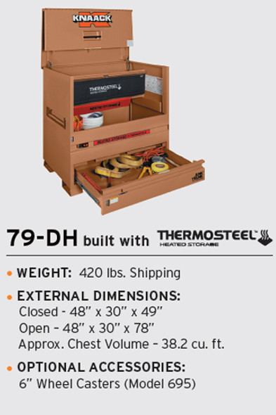 Knaack Model 79-DH STORAGEMASTER Chest / JUNK TRUNK THERMOSTEEL Heated Storage