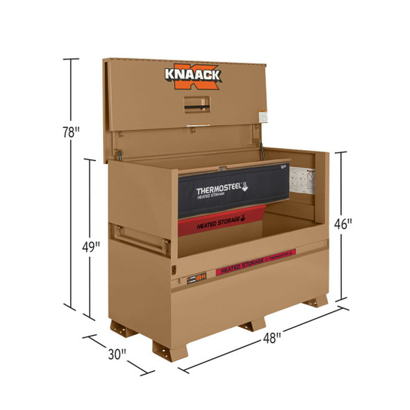 Knaack Model 89-H STORAGEMASTER Chest / THERMOSTEEL Heated Storage