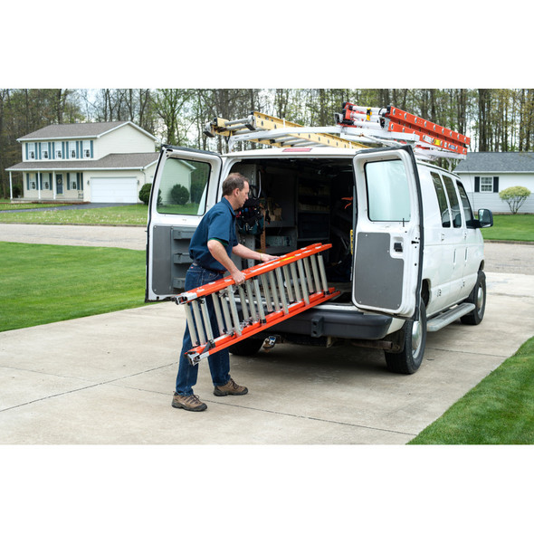Werner D6200-3 Series 3-Section Fiberglass Ext. Ladder 300 lbs rated