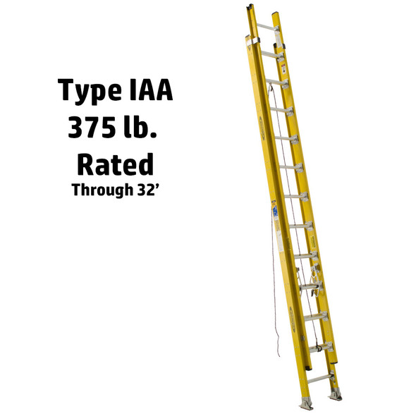Werner D7100-2 Series Fiberglass Extension Ladder 375 lb Rated*