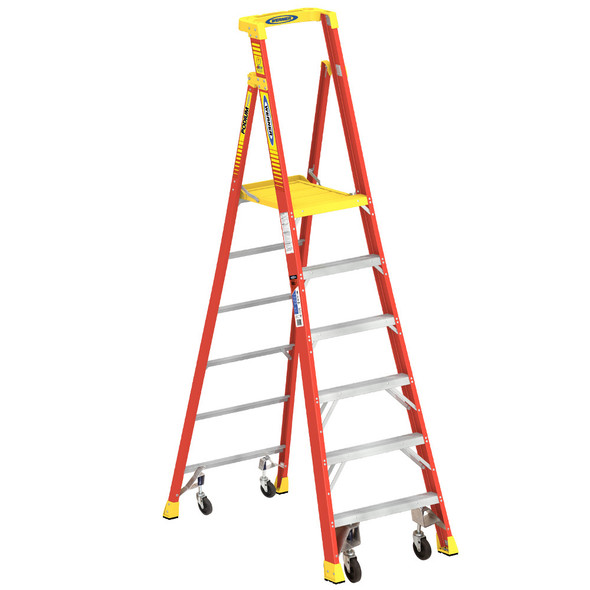 Werner PD6200-4C Series Podium Ladder with Casters | 300 lb Rated