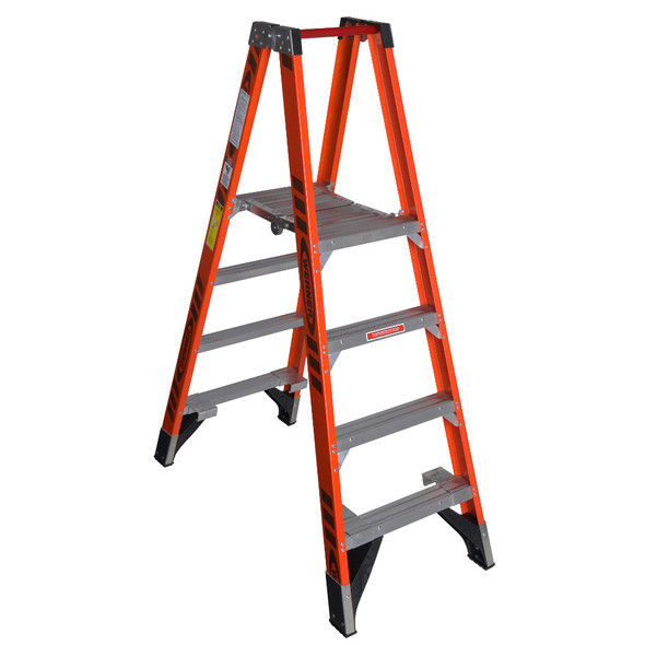 "Werner PT7400 Series"" Stockr's"" Fiberglass Ladder | 300 lbs Rated"