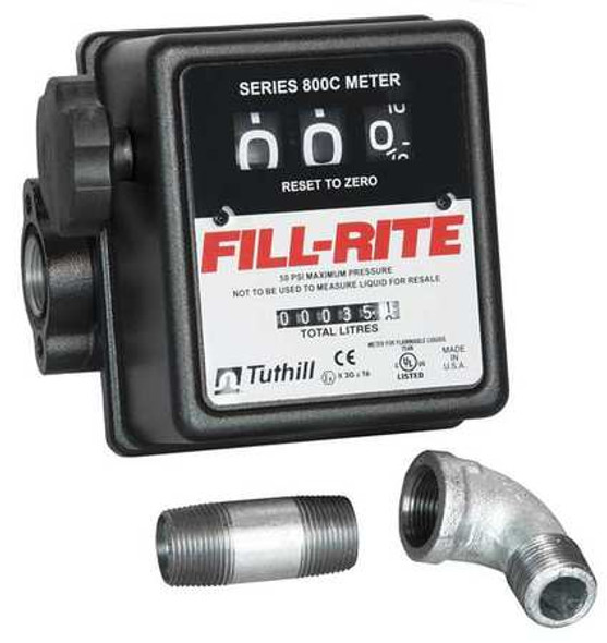 "Fill-Rite 807CMK / 3-Wheel Mechanical, 3/4"" Meter"