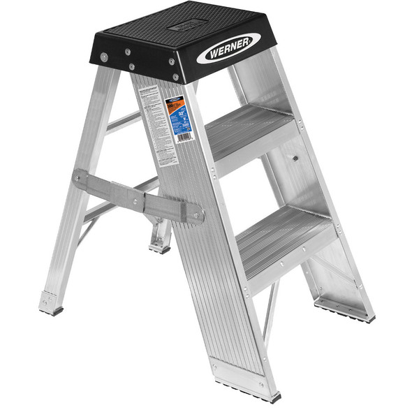 Werner SSA Series Aluminum Step Stand 375 lb Rating