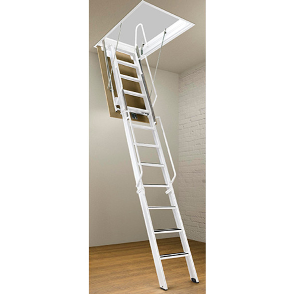 Rainbow F-Series Steel Attic Ladders - 11 Foot Heights | Commercial Rated