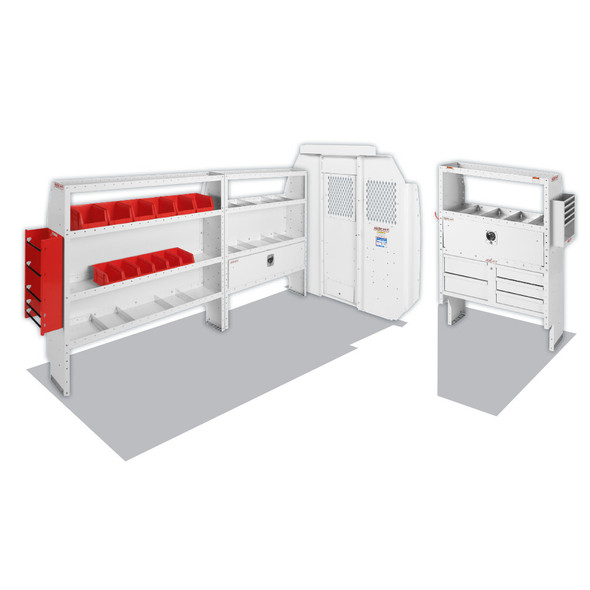 """Weather Guard Model 600-8444R Electrical Contractor Van Package, Mid/High-Roof, 136"""" WB, RAM ProMaster"""