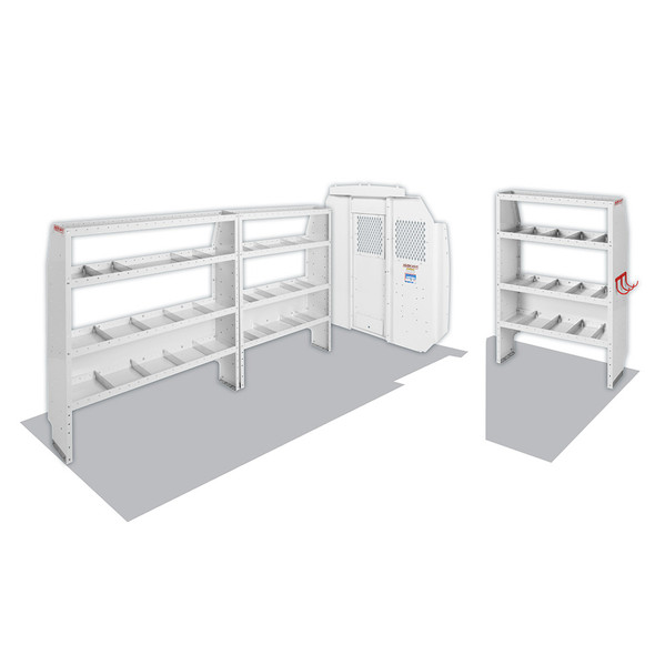 "Weather Guard Model 600-8440L Commercial Shelving Van Package, High-Roof, 159"" WB, RAM ProMaster"