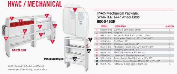 Weather Guard Model 600-8453R HVAC/Mechanical Van Package, Sprinter, 144 WB