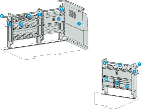 "Adrian Steel 4317MM - General Service Starter Package, Metris 126"""
