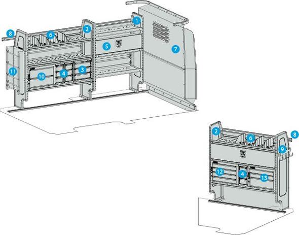 """Adrian Steel 4319MM - Electrical & Gas Starter Package, Metris 126"""""""