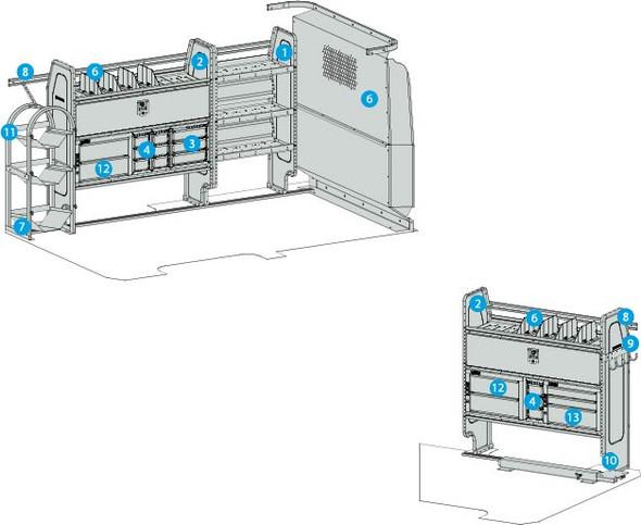 """Adrain Steel 4318MM - Plumbing, Heating, & A/C Starter Package, Metris 126"""""""