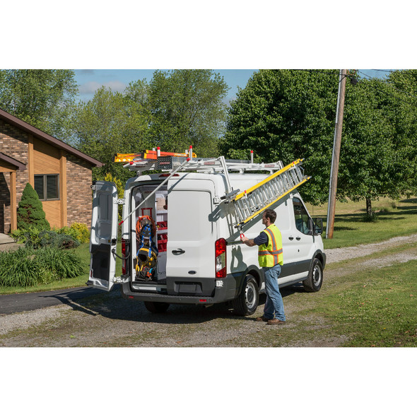 WeatherGuard Model 2291-3-01 EZGLIDE2 Drop-down Ladder Rack, Extended, Mid/High-Roof