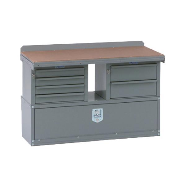 Adrian Steel #MD508 Workbench Module, 42w x 26h x 18d, Gray
