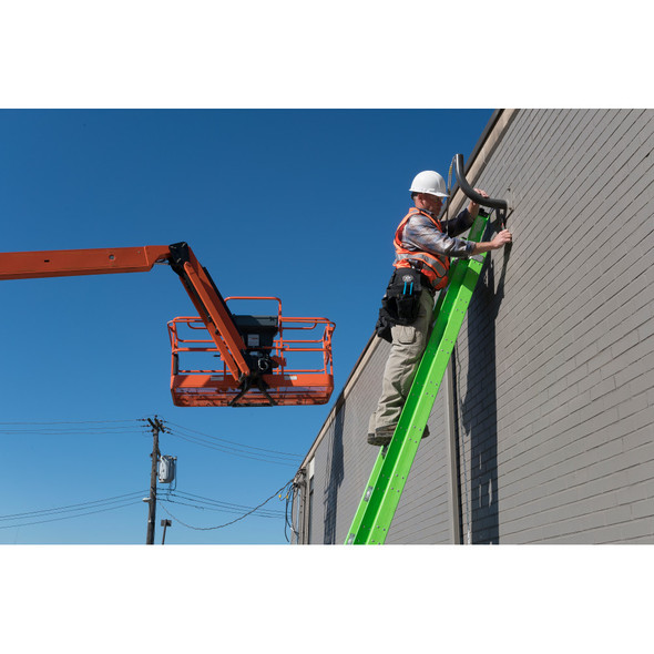 "Werner D7100-2GHV  ""HIGH VISIBILITY"" Series Fiberglass Extension Ladder 375 lb. Rating"