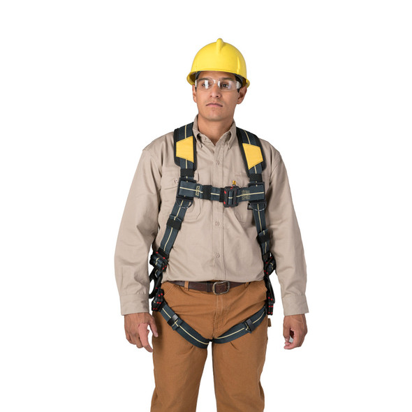 Werner Blue Armor H9140 Arc Flash Harness Standard, Dielectric Pass Thru Legs