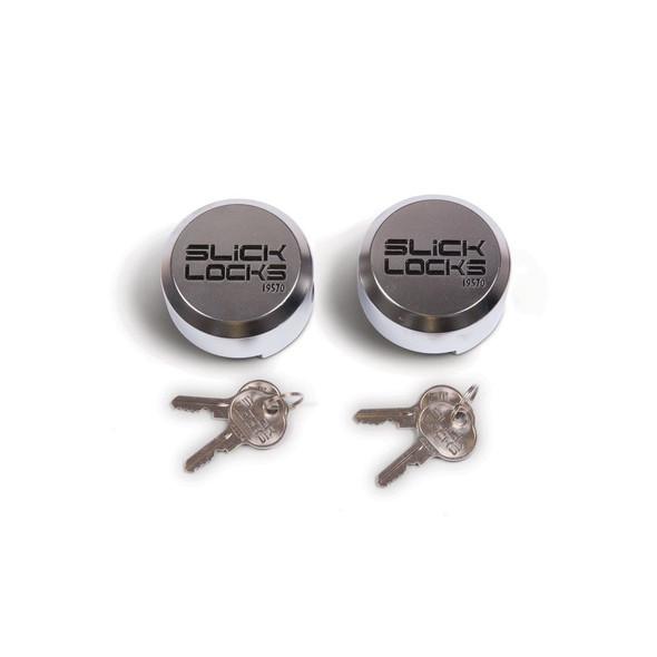 Slick Lock Model No. SL-AL-PL-2KA | Replacement Puck Lock - 2 Pack Keyed Alike