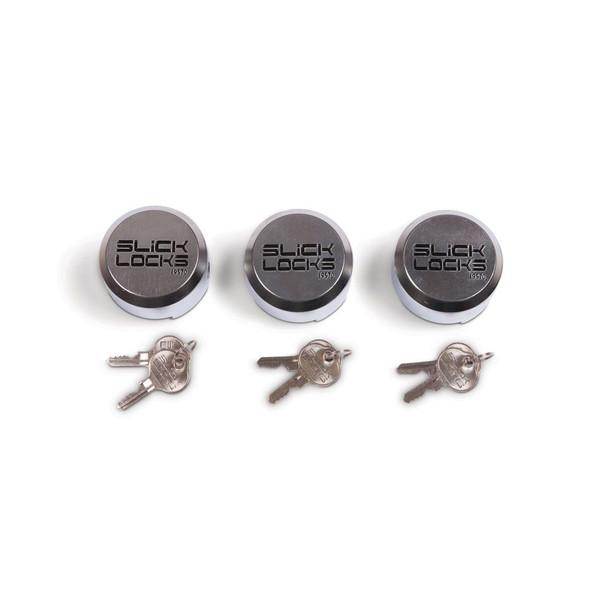 Slick Lock Model No. SL-AL-PL-3KA | Replacement Puck Lock - 3 Pack Keyed Alike