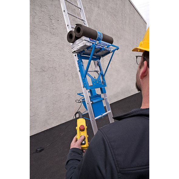 Safety Hoist Platform Hoist 28 ft. w/ Electric Motor - 500 lb. Capacity