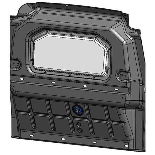 Adrian Steel Company #PARPMC 52077 Composite Partition w/window | RAM ProMaster City