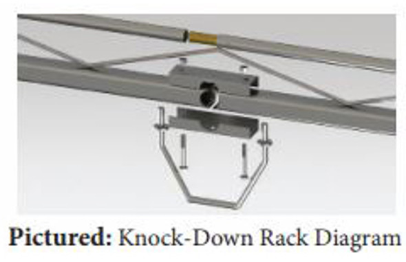 "Topper #458144 12' Knocked-Down Van Rack w/60"" Crossbars - 2015 & up Ford Transit Van with 148"" WB - High/Med/Low Roof"