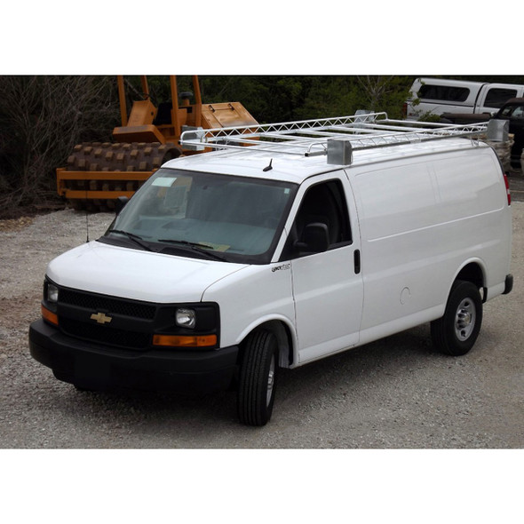 Topper #456505 14' Knocked-Down Van Rack Chevy Express / GMC Savana Van | 1996 & Newer