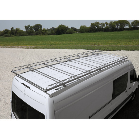 "Topper #363170 14' Maxi Van Rack w/63"" Crossbars - Low Roof Extended 