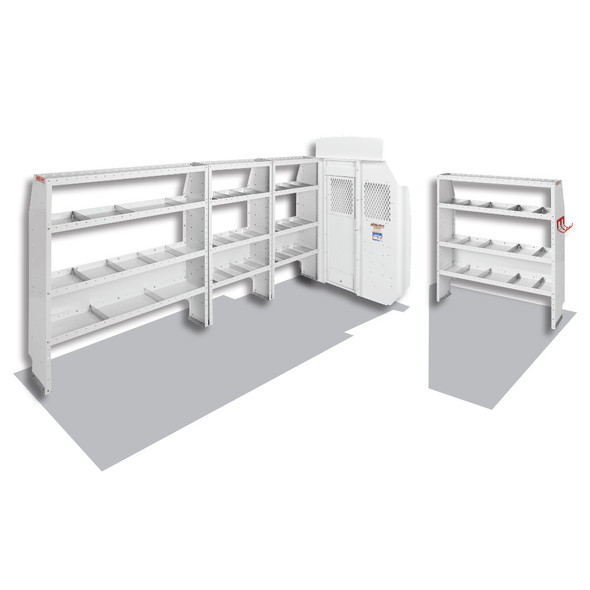 Weather Guard Model 600-8410X Commercial Shelving Van Package, High-Roof, Ford Transit, 170 XWB