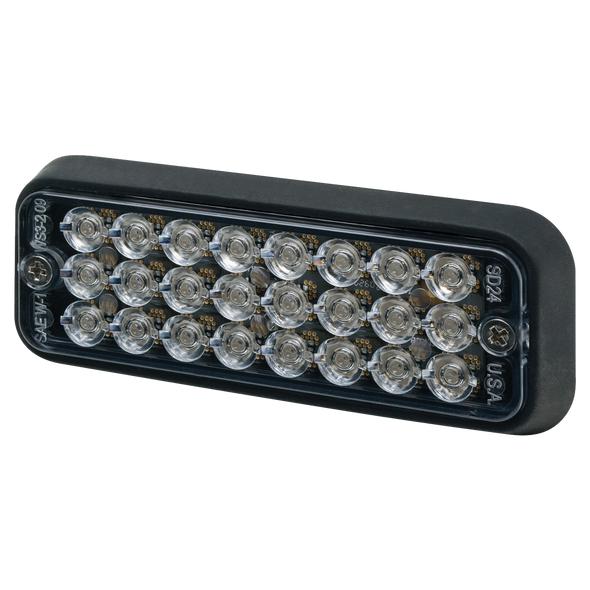 ECCO 3510A Directional LED: Surface Mount, 12VDC, 16 Flash Patterns, Amber