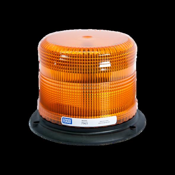 ECCO 7965A LED Beacon Light: Pulse-II, Low Profile, 12-24 VDC, 11 Patterns, Amber