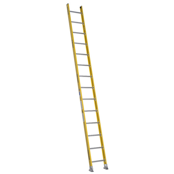 Werner 7100-1 Series Fiberglass One-Section Round Rung Straight Ladder | Type IA
