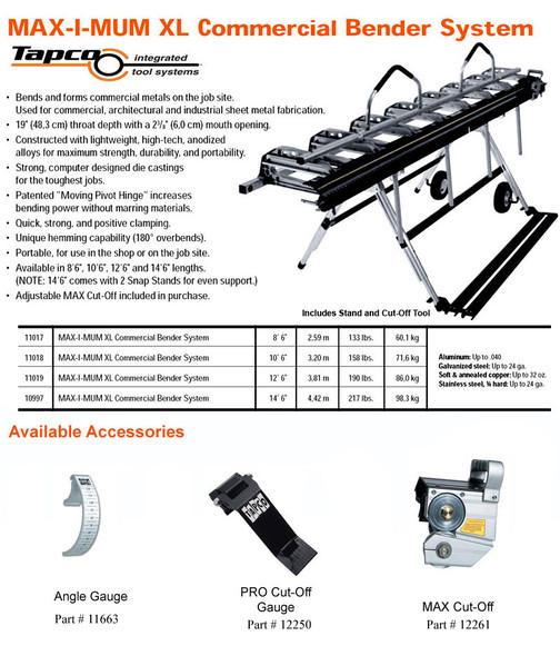 Tapco Siding Tools MAX-I-MUM XL Commerical Bender