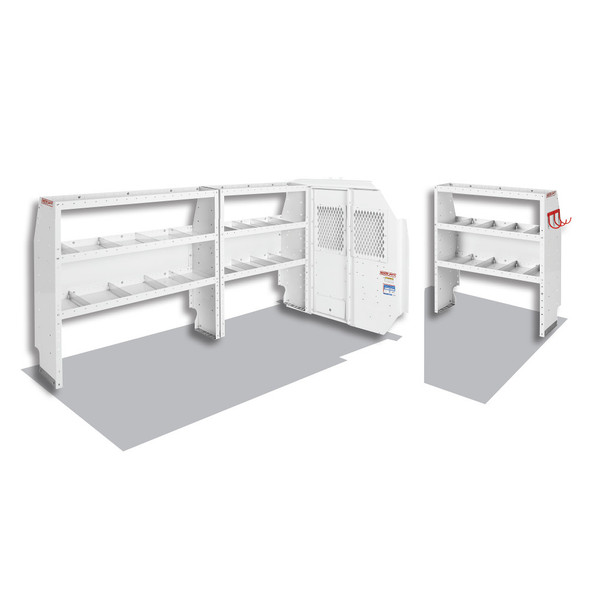Weather Guard Model 600-8110R Commercial Shelving Van Package, Full-Size, Ford Transit, 130 WB