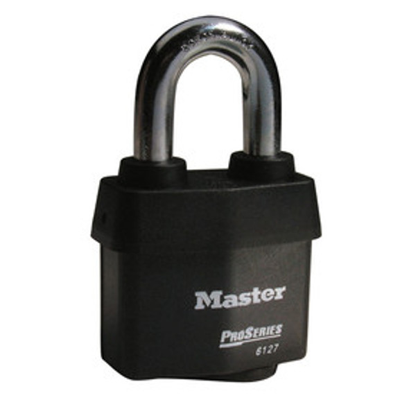 Master Lock 6127KA 2-5/8in (67mm) Wide ProSeries® Weather Tough® Laminated Steel Rekeyable Pin Tumbler Padlock, Keyed Alike