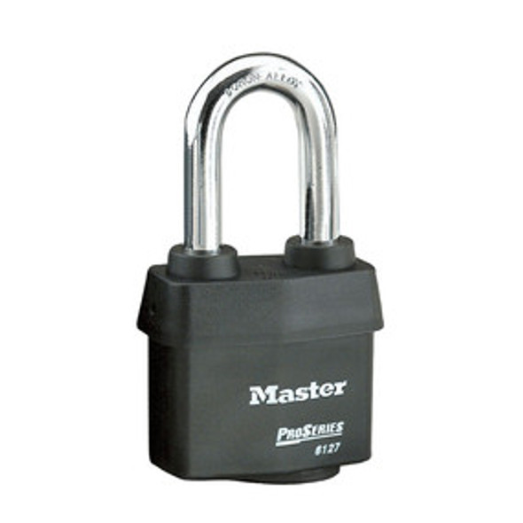 Master Lock 6127KALH 2-5/8in (67mm) Wide ProSeries® Weather Tough® Laminated Steel Rekeyable Pin Tumbler Padlock with 1-7/8in (48mm) Shackle, Keyed Alike