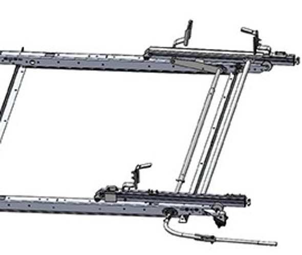 Adrian Steel #DDLR61GM2 Passenger Side Drop Down Ladder Rack, Express, Savana
