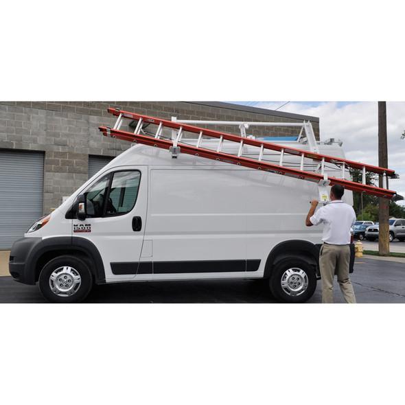 "Adrian Steel #DD61PML136 Passenger Side Drop Down Ladder Rack, ProMaster Low Roof, 136"""