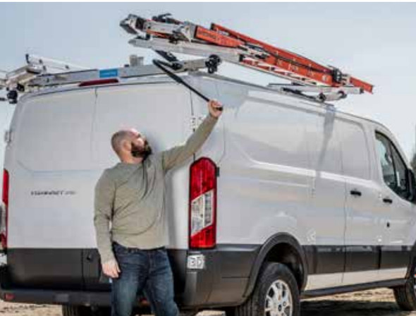 Adrian Steel #DD61PML136 Passenger Side Drop Down Ladder Rack, ProMaster Low Roof, 136""